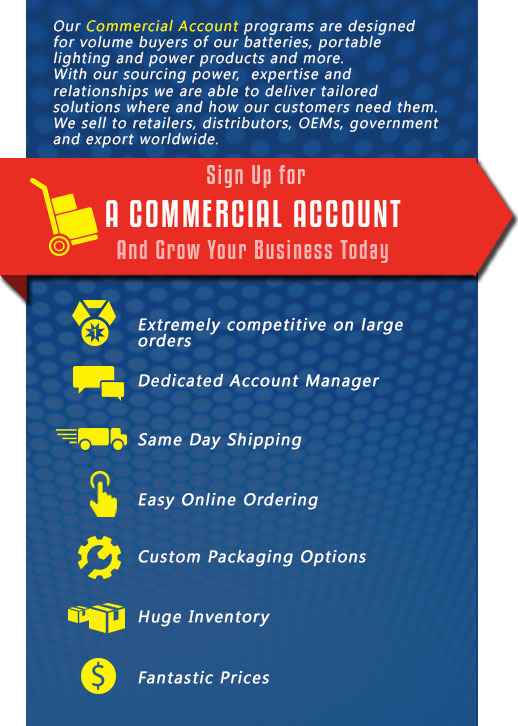 commercial account perks